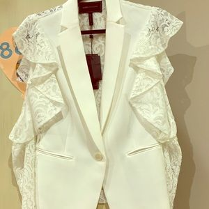 BCBG White Lace Blazer brand new